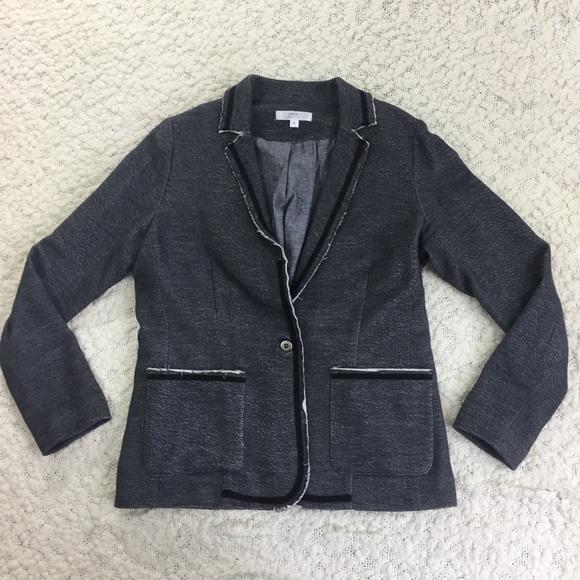 Anthropologie Jackets & Blazers - Anthropologie Drew Distressed Cotton Blazer Gray S